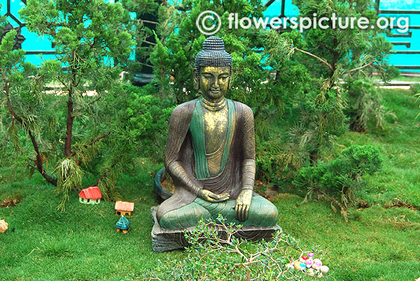 Buddha bonsai garden theme lalbagh jan 2016