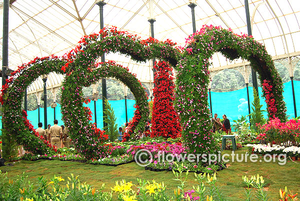 Floral arch lalbagh bangalore flower show jan 2016