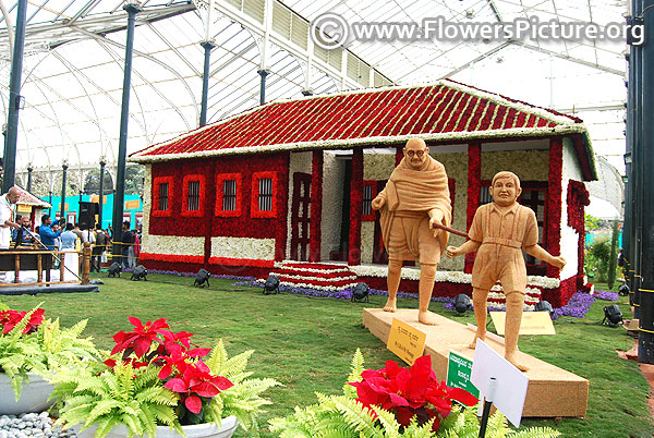 Lalbagh flowder show 2019-mahatma gandhi 150th anniversary year