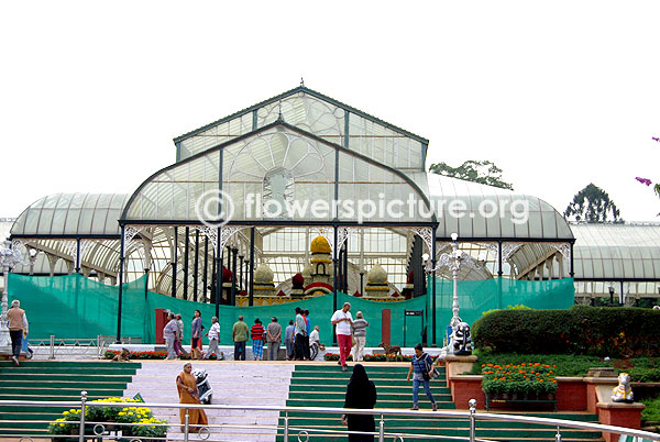 Lalbagh botanical garden glass house-Independence day-August 2014