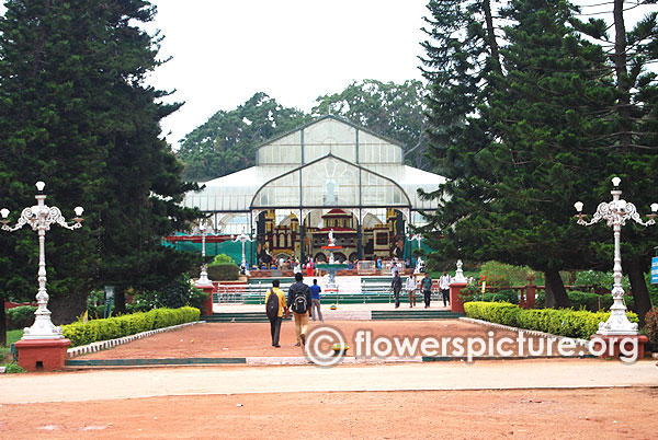 202nd lalbagh flower show glass house decoration