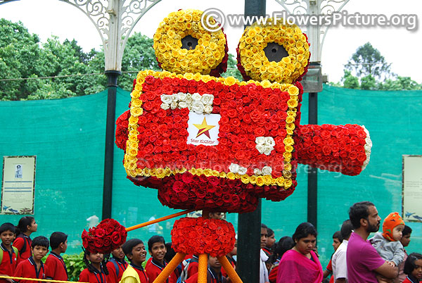 Floral gaint camera lalbagh independence day