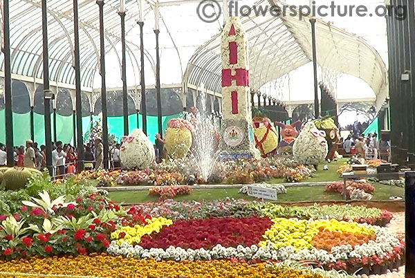 Main view of republic day flower show lalbagh 2014