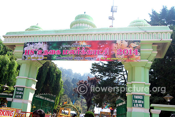 Ooty botanical garden entrance & Timings
