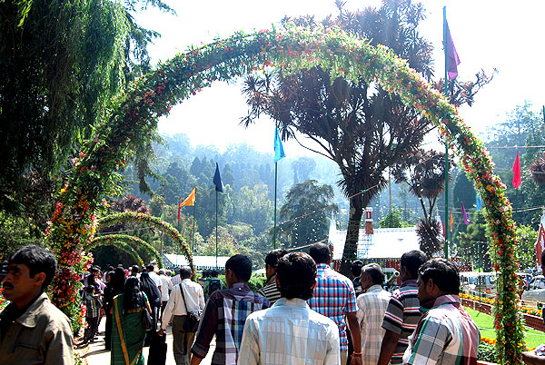 Ooty flower show2014 front arch